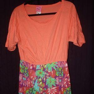 Simply Southern Orange Dress XL